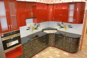 Фото угловой кухню № 2 по выгодной цене