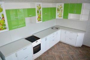 Фото угловой кухню № 4 на заказ по выгодной цене