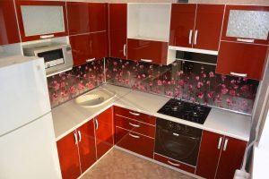 Фото угловой кухню № 7 на заказ по выгодной цене