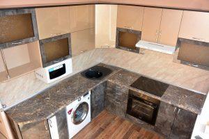 Фото угловой кухню № 9 на заказ по приятной цене