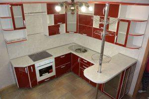 угловая кухня с барной стойкой фото и цены 2