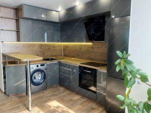 угловая кухня с барной стойкой на заказ фото и цены 47