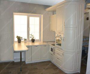 угловая кухня с барной стойкой на заказ фото и цены Дэко