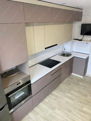 Фото угловой кухни без ручек