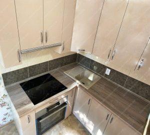 угловая кухня № 8900 фото и цены