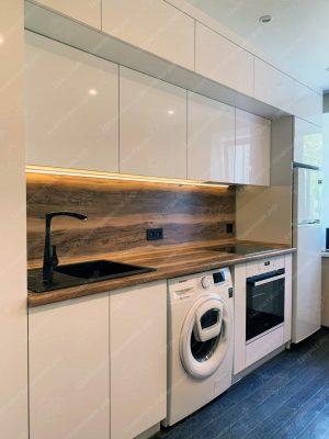 Фото прямой кухню № 8908 на заказ каталог цены