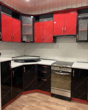 Фото угловой кухню № 8912 на заказ каталог цены