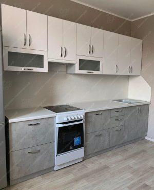Фото прямой кухню № 8887 на заказ каталог цены