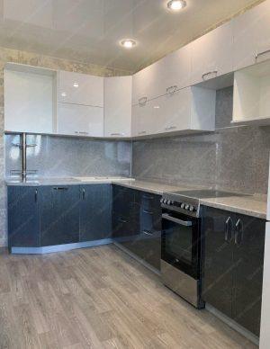 Фото угловой кухню № 8896 на заказ каталог цены