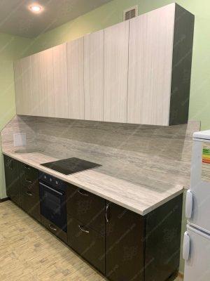 Фото прямой кухню № 8898 на заказ каталог цены